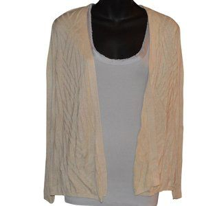 Croft and Barrow Textured Open Front Cardigan XS
